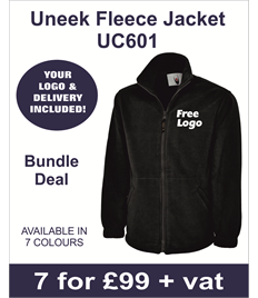 10 Uneek Classic Fleece Jackets £135.00